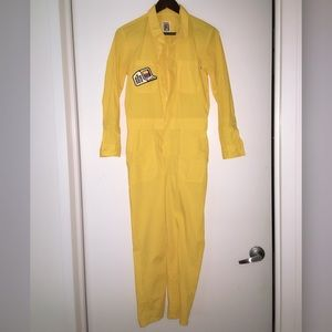 1e19834cd18 Urban Outfitters X Vans Collab Yellow Jumpsuit